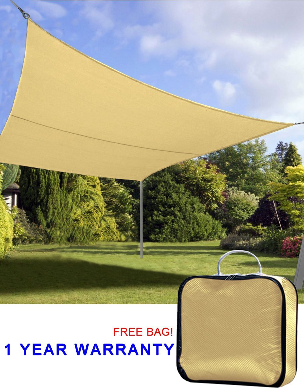 Get Quotations · Quictent 20u0027 x 16u0027 Outdoor Rectangle Oversized Sun Sail Shade Canopy Patio Garden Top & Cheap Sail Garden Canopy find Sail Garden Canopy deals on line at ...