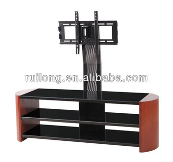 Home Furniture Tempered Glass Led Tv Table Design Rm017 Buy
