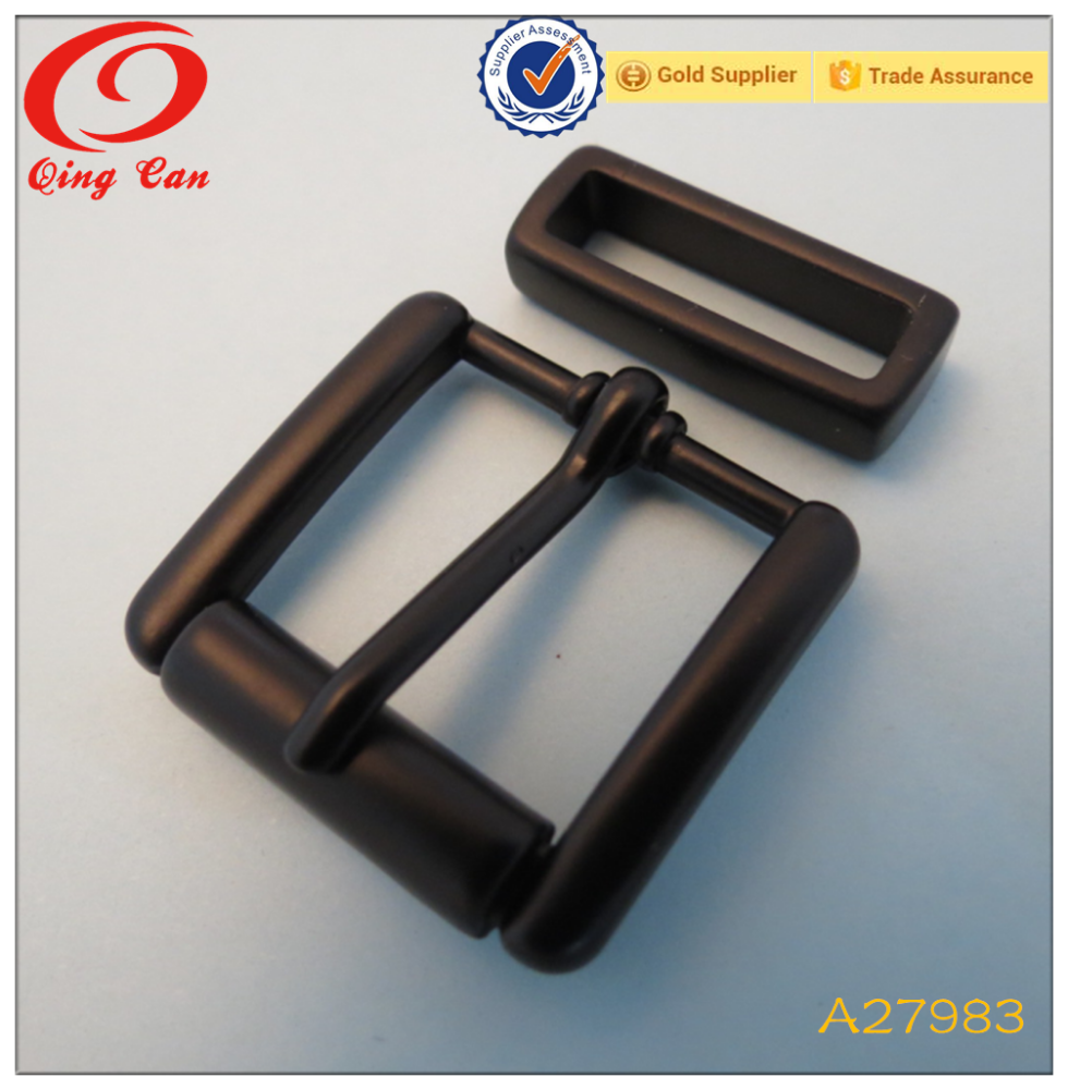 19mm paint square wholesale metal tube pin buckle for belt