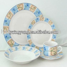 Heat resistant opal ceramic 47pcs dinner set