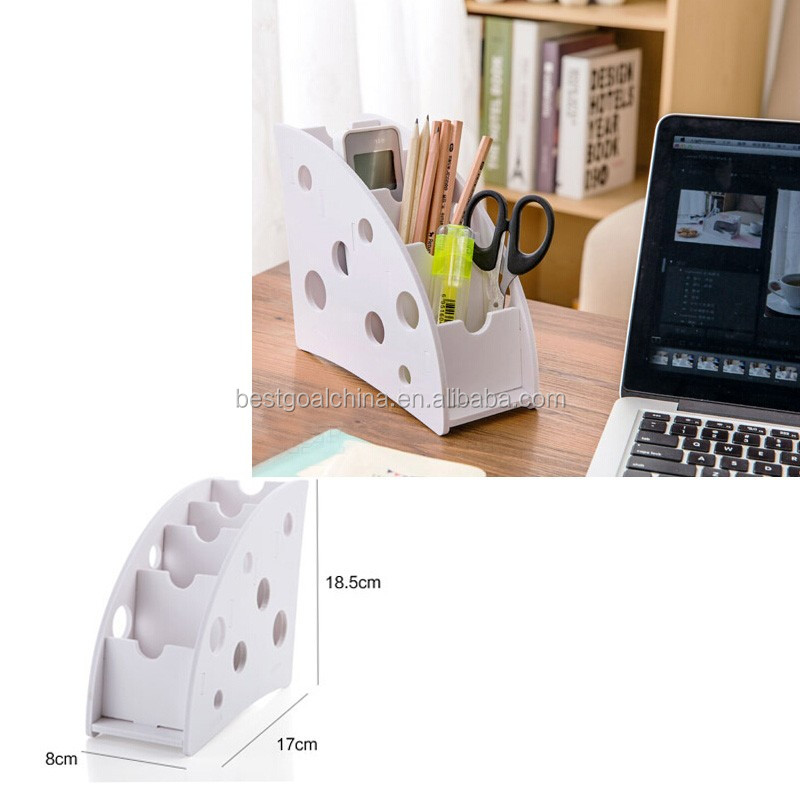 White New Novelty Foldable Desk Office Organiser Storage Box