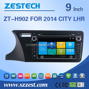 Auto Steering Wheel For Honda 2014 CITY LHR car gps with auto radio Bluetooth SD USB Radio wifi 3G