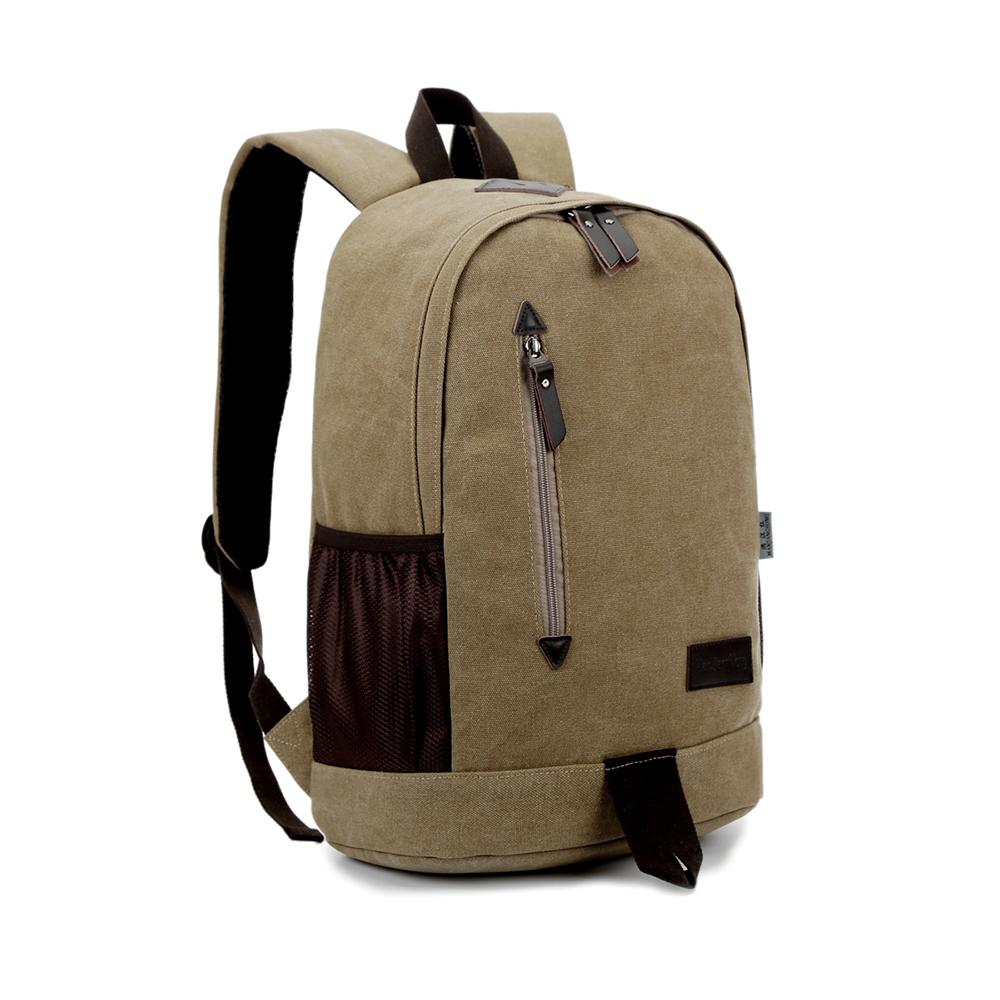 3e68fd476313 New design vintage canvas school backpack China supplier European style  college bag school bag