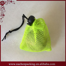 2015 Newest Fashion Foldable Small Nylon Mesh Bag for Golf Balls Packing