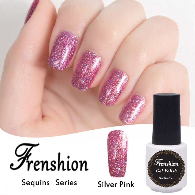 Frenshion 2018 New Arrivals Sequin Nail Art Soak Off Nail Polish ...