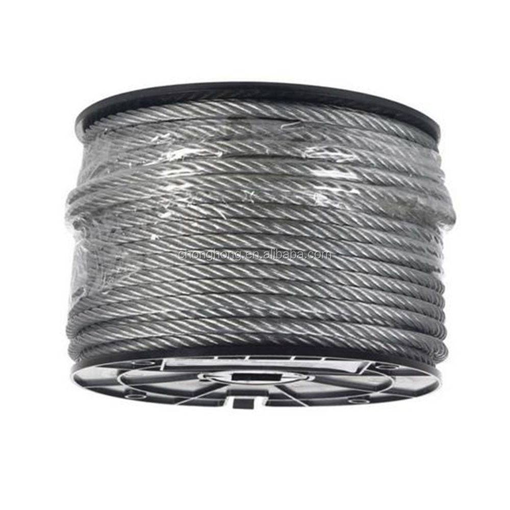 """7x19 Galvanized Wire Rope Cable 5//32/"""" 1000 ft reel"""