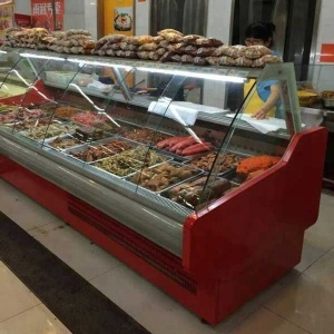 Electric Heater Cooked Food Display Showcase refrigerator
