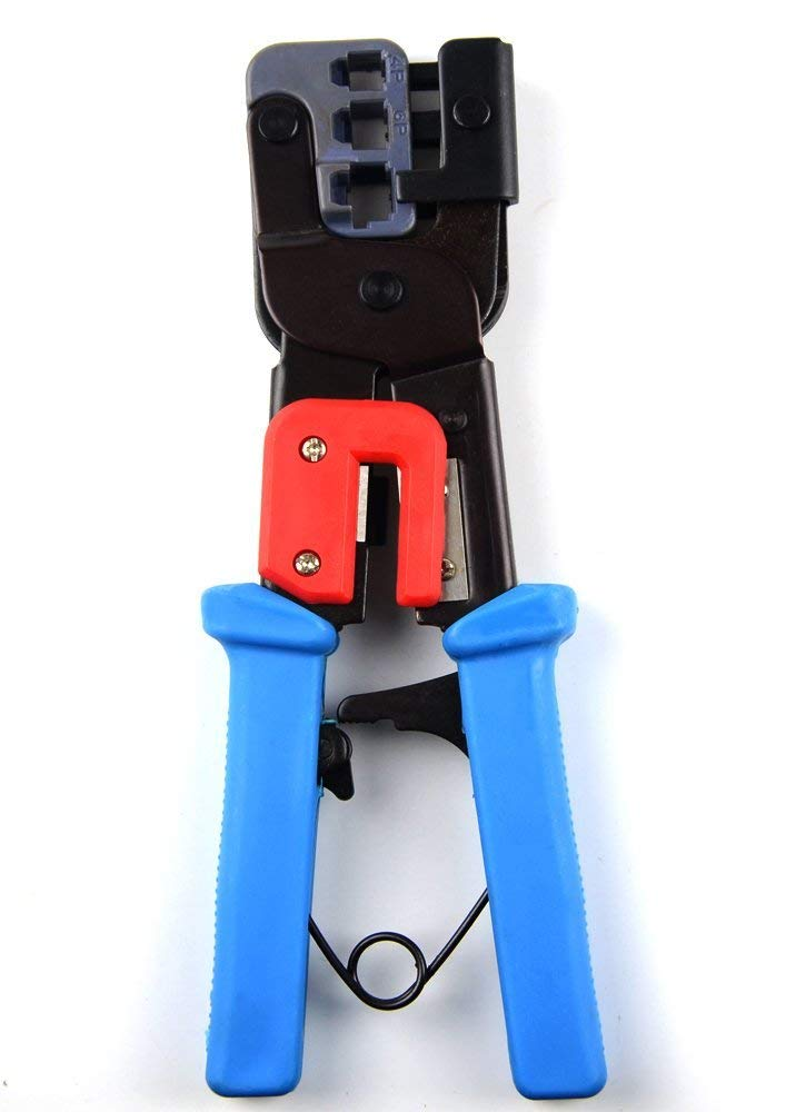 BXQINLENX Professional Multi-function Wire Crimper telephone tool crimps cable wire stripper wire crimper and cuter for 8P8C(RJ-45) 6P2C 6P4C 6P6C RJ-11 RJ-22(4P2C 4P4C)handset modular plug