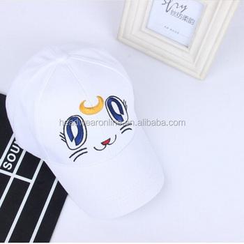 Cartoon cat cute cap children summer baseball cap bend leisure hat topi  hip-hop cap 9604c71304e
