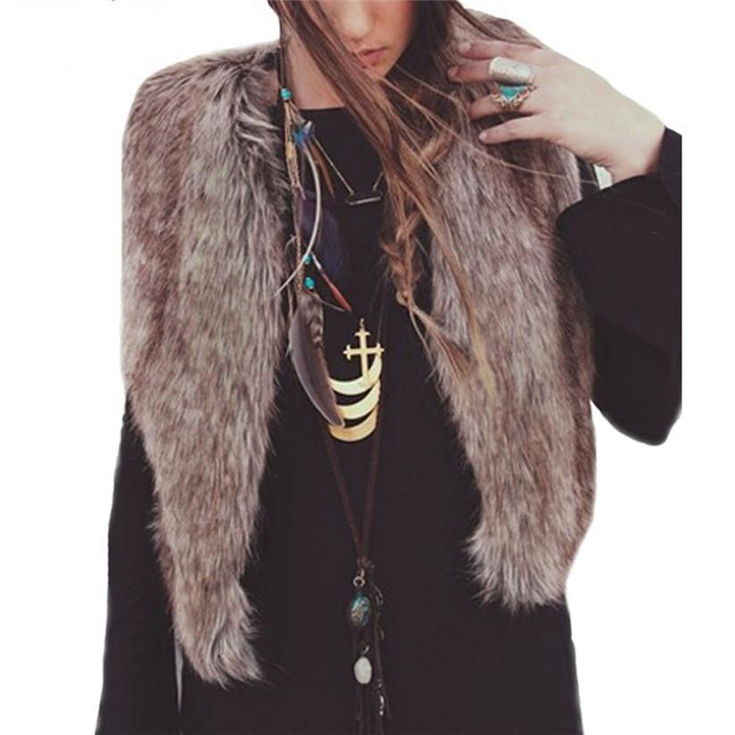 Маркетинг женщины жилет без рукавов пальто верхняя одежда длинная волос куртка жилет Sep1
