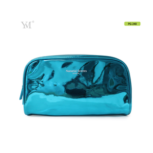 cheap travel shiny patent pvc leather cosmetic vanity bag with 3 colors
