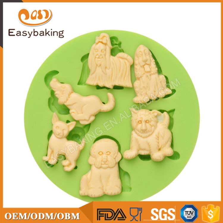 ES-0054 Animal Themed Silicone Molds Fondant Mould for cake decorating