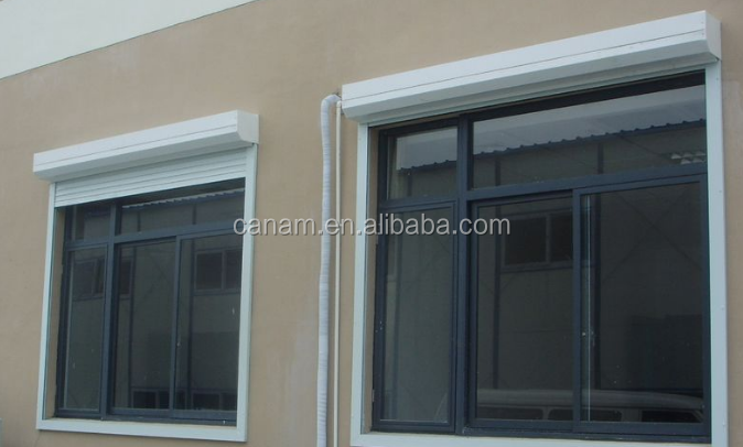 Window metal rolling shutter with 40mm foam slats