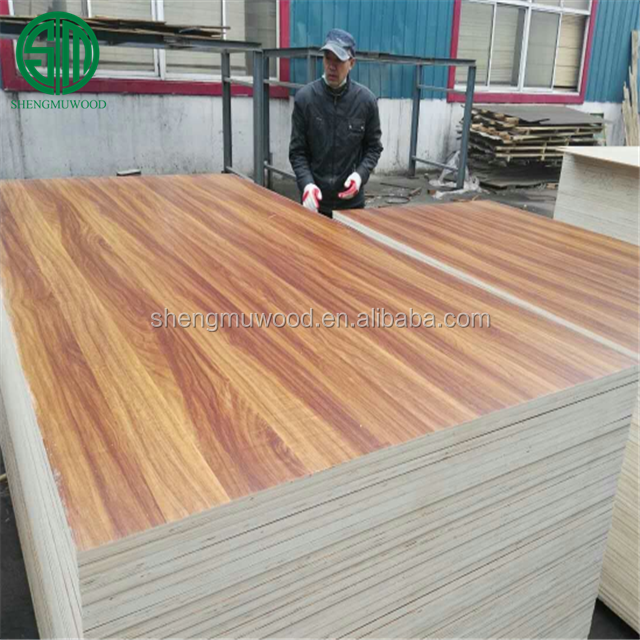kitchen cabinet grade 3.0mm one side wood grain melamine faced plywood