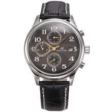 KS Classic Mens Data Mese Display Piccola Lancetta dei secondi Automatico <span class=keywords><strong>Orologio</strong></span> Meccanico