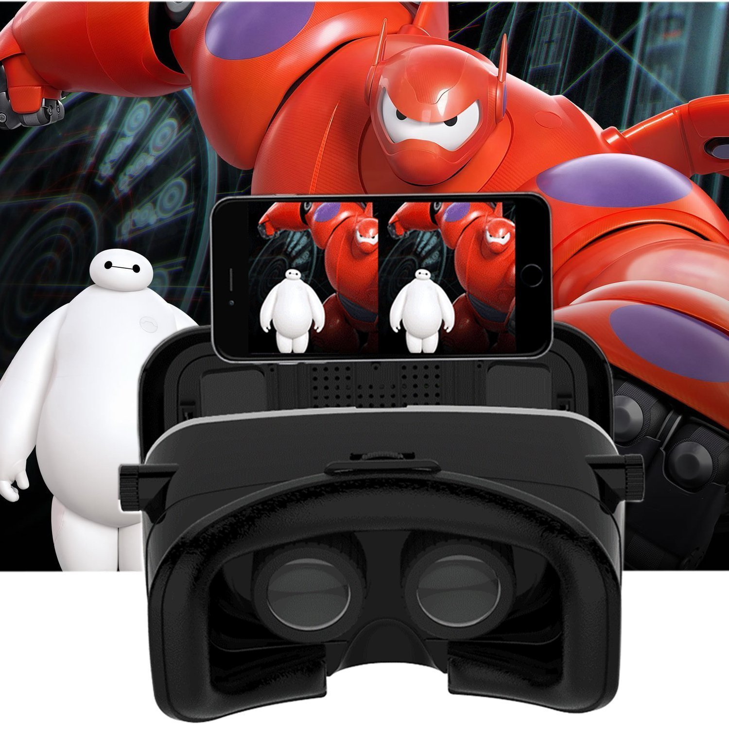 """G4 TECH VR SHINECON Case Google Cardboard VR Box 3DVirtual Reality Headset Video Movie Game Glasses for Android & IOS Smartphones(4.7""""-6"""") (VR SHINECON)"""