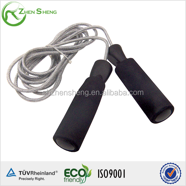 Zhensheng black handle speed skipping rope