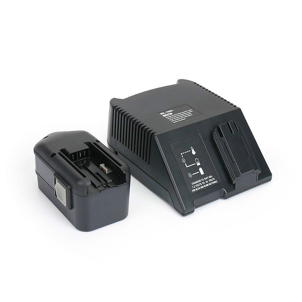 REEXBON Power Tool Battery Charger for Milwaukee/AEG 7.2V~24V Ni-CD, Ni-MH Batteries