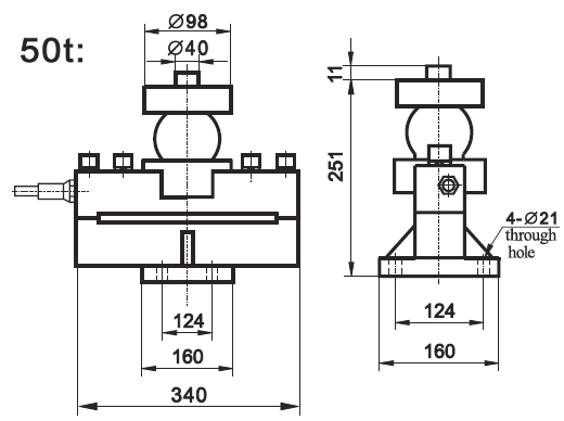 sc9 lighting protect 50 ton weight sensor for trucks  view