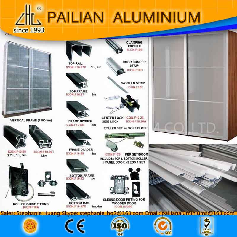 Uk Price Of Aluminum Frame Mdf Wardrobe Sliding Door,Aluminum ...