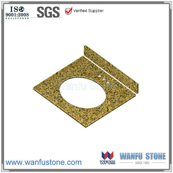 25 x 22-inch Mum yellow Granite Under-mount Single Sink Bathroom Vanity Top,lowes bathroom sinks vanities