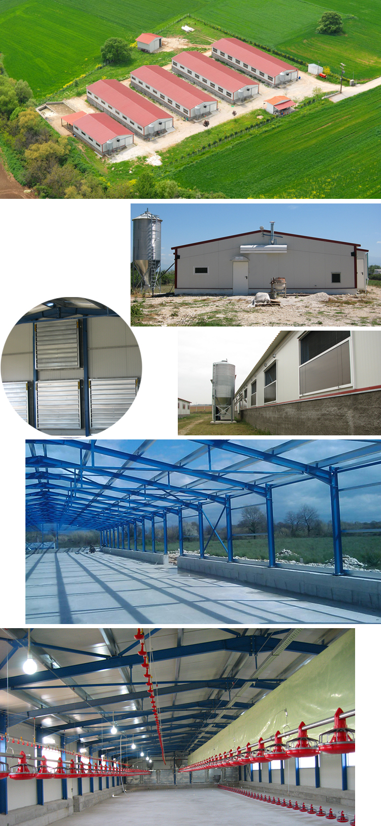 Galvanized Anti Corrosion Steel Structure Frame Chicken Farm Shed Building Suppliers For Africa