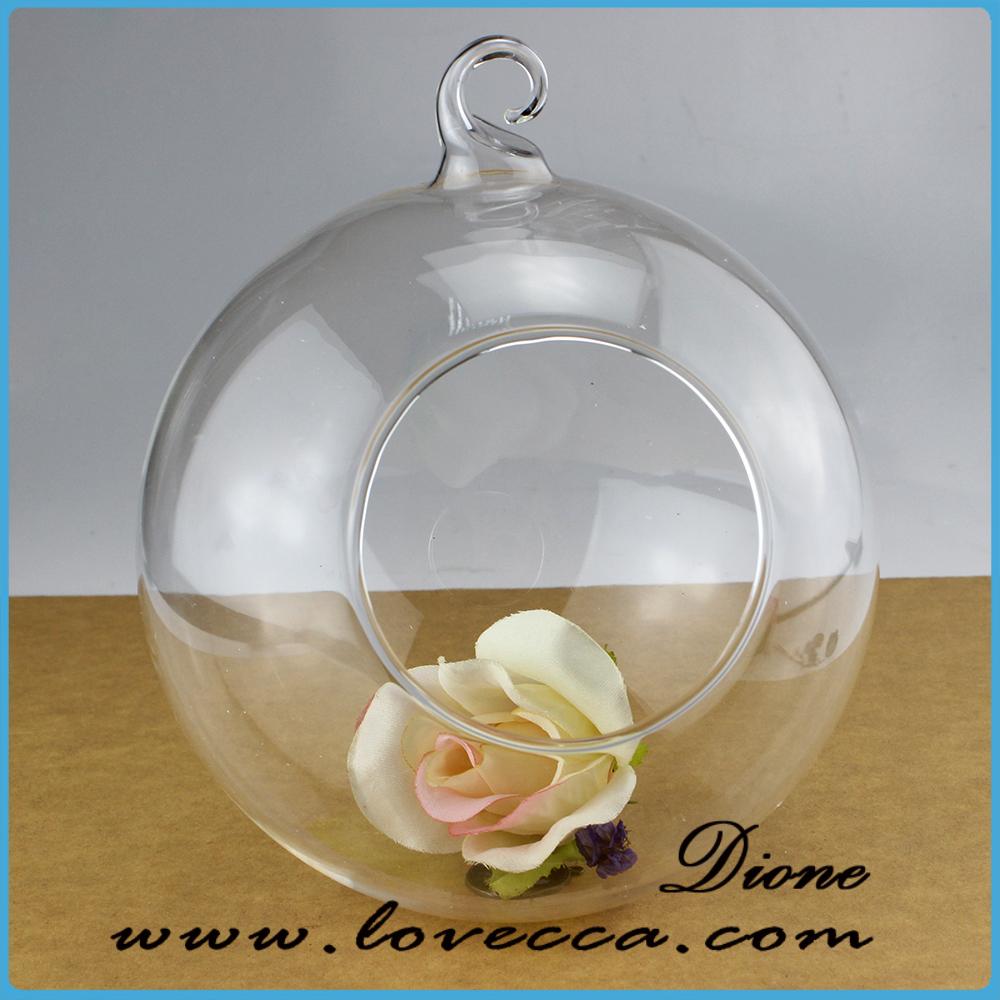 Flat glass ornaments - Clear Glass Flat Terrarium Ornaments Hanging Teardrop Shaped Glass Vase Tall Glass