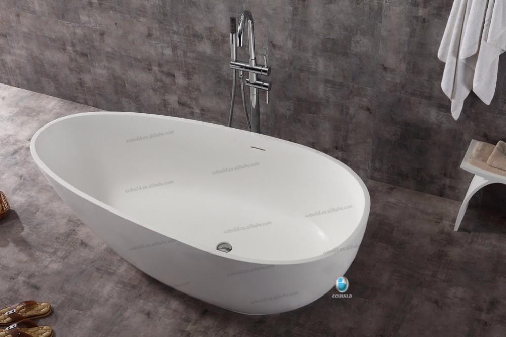 Vasca Da Bagno Resina Piccola : K c bianco stand alone superficie solida pietra resina vasca