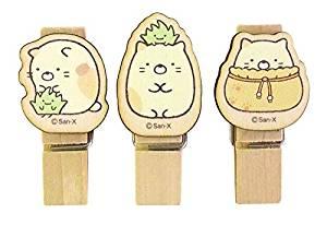 Sumikkogurashi / 3 Wood Clips / Cat SG380NK