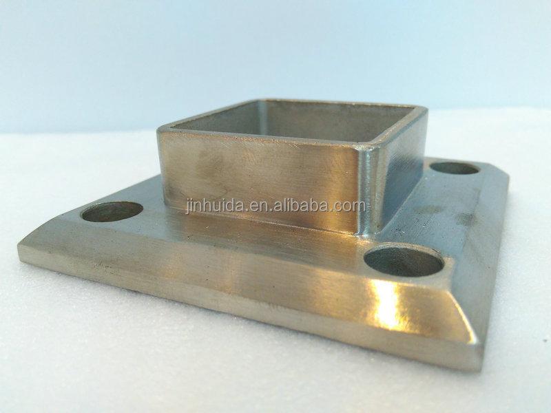 Welded Pipe Fitting Socket Handrail Support Holder Tube