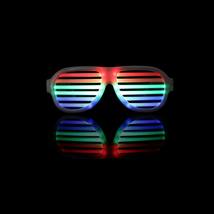 Men's Glasses The Cheapest Price Wholesale El Wire Flashing Light Up Shutter Glasses Shades Eyewear Party Concert Favor Jade White Men's Eyewear Frames