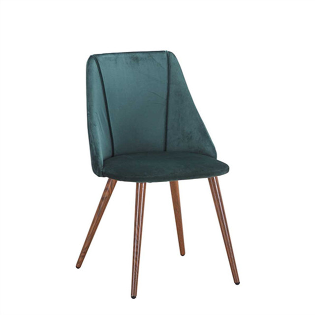 mid centuary design best sale velvet fabric cover restaurant/bar cushioned metal or wood leg rounge leisure dining chairs