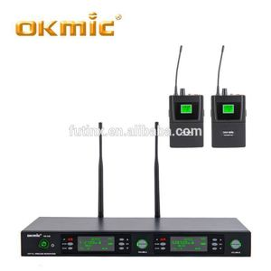 Wholesale double belt pack uhf radio microphone system make in china microphone