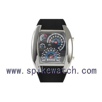 Colorful Light Up Water Resistant Led Watch Gift Sport Car Meter