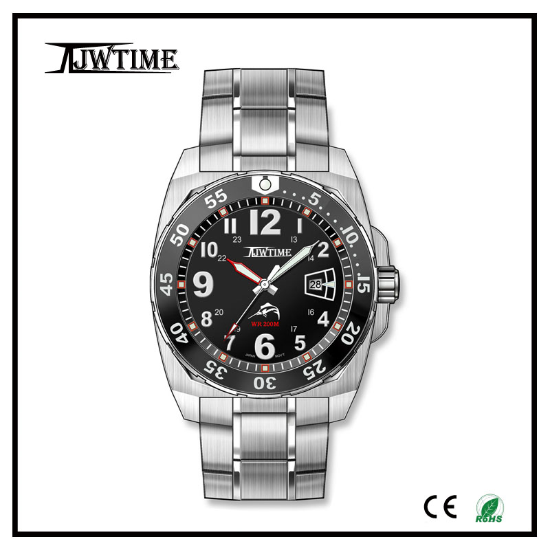 relojes hombre uhren 10 atm watch, day of the week watch wholesale oem stainless steel watch case 316l