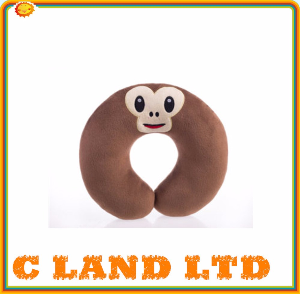 U shape cute monkey emoji neck pillow stuffed emoji pillows