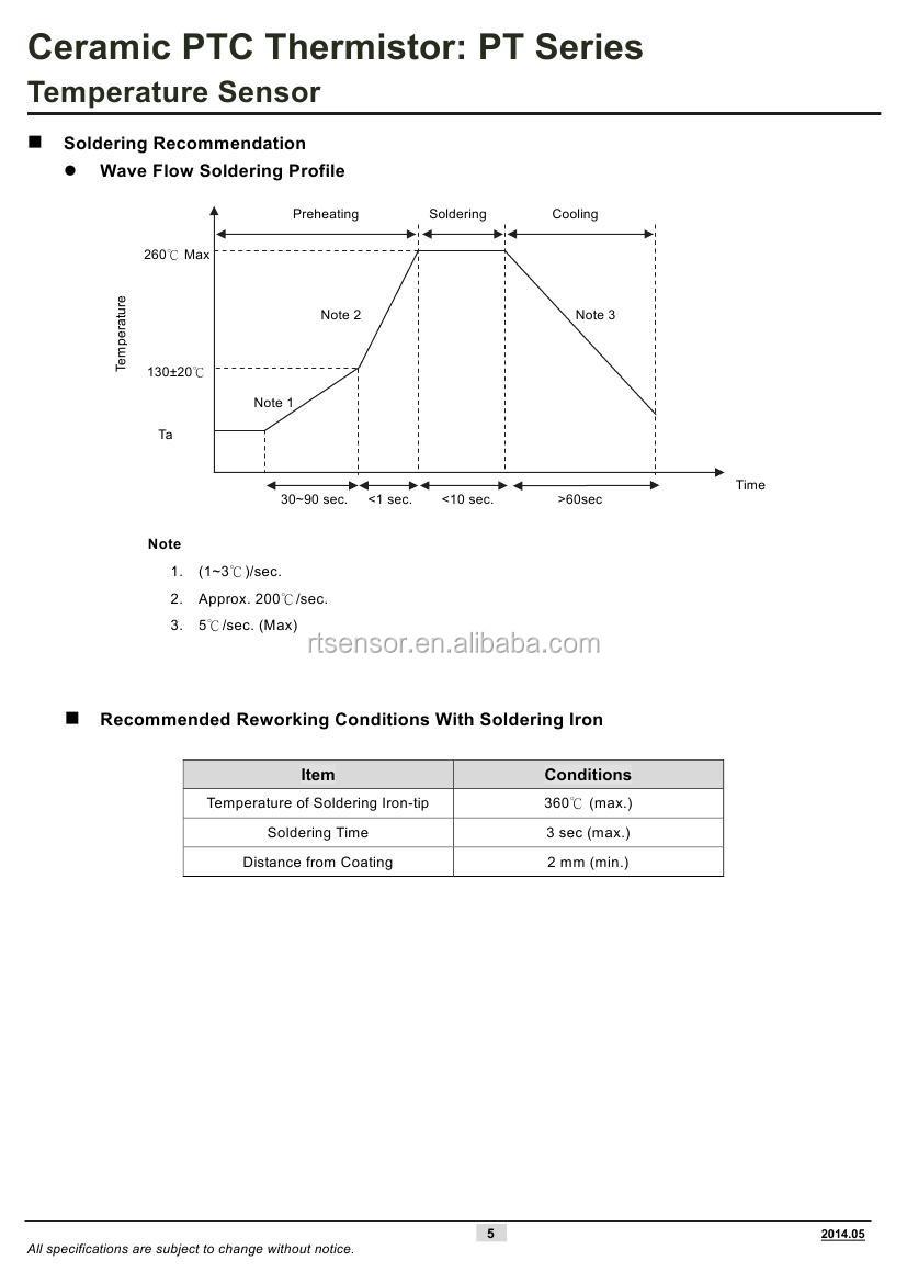 Ceramic PTC Thermistor Temperature Sensor PTL PTM For Lighting Home  Automotive Motor Windings Application