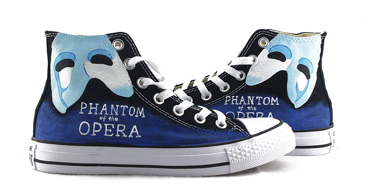 3df87f1e3dfc6 The Phantom Of The Opera Sneakers Hand Painted Shoes Custom Men Women Shoes  High Top Shoes