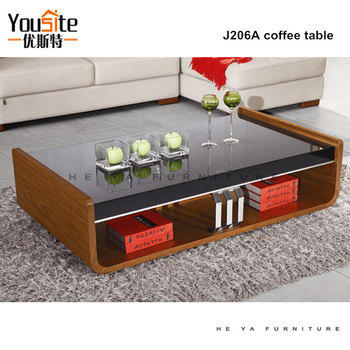 Italian wooden center tables glass top center table design for Design table top konkrit