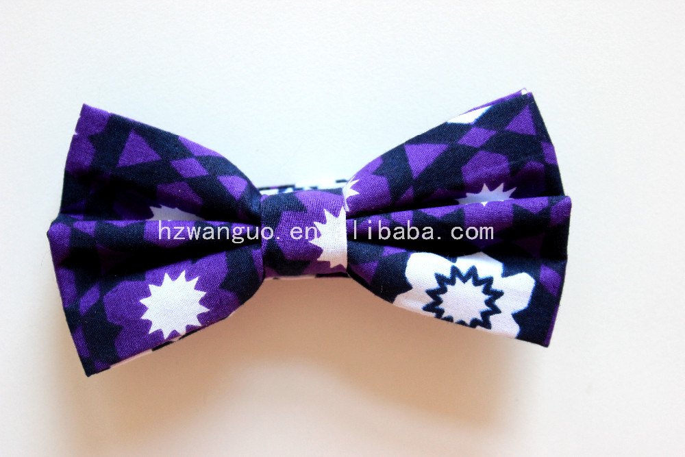 new design 100% cotton printed bow tie best price