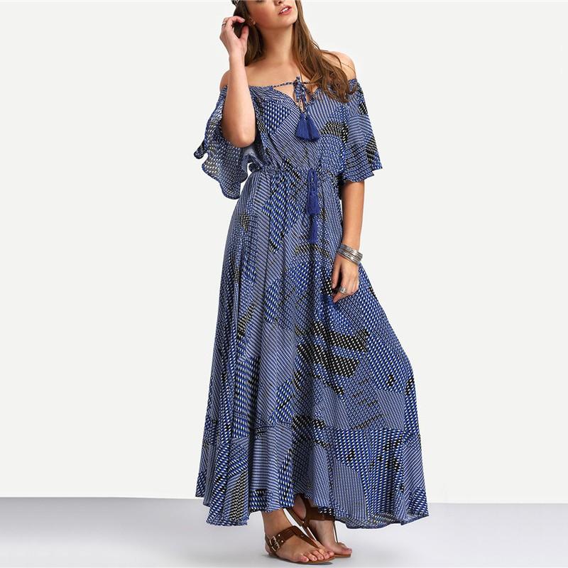 Maksi dress 2018 summer