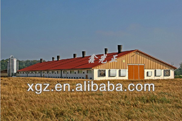 Prefab Environmental Control Poultry House Poultry Shed