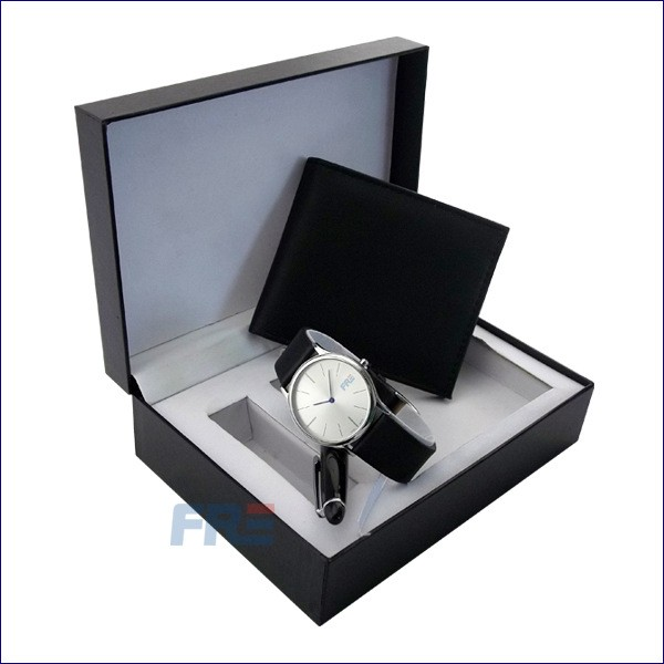 Supply classic simple ball pen with watch gift set, economy and good quality gift