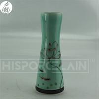chinese vase design glazed chinese porcelain wedding use gift hand-painting flower vase blue and white chinese