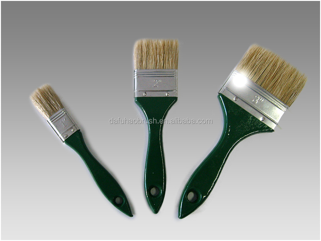 green wooden handle cleaning tool dust brush