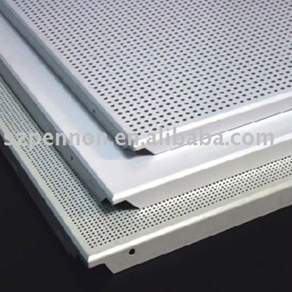 Elegant Perforated Aluminum Metal Clip In Type Ceiling Panel Tiles