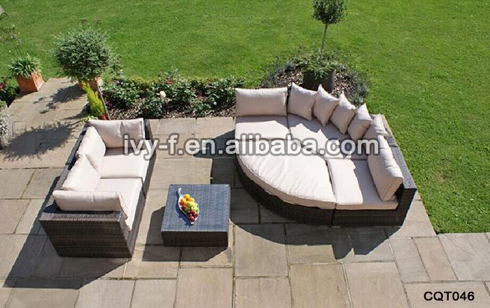 Patio Rattan Half moon Shape Sectional Sofa semi circle