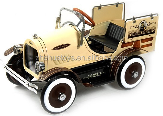 high quality kids antique metal car toy childrens metal pedal carbaby car for