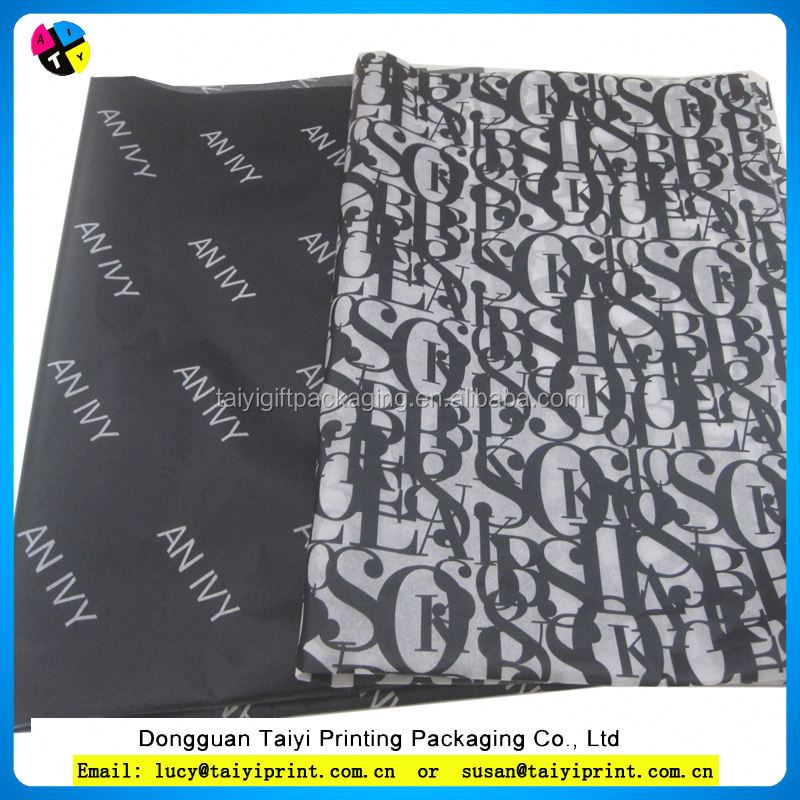 Printed black wrapping tissue paper Exports of dubai