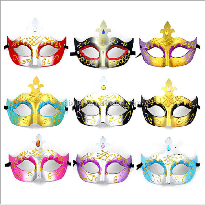 Colorful Plastic Half Face Venice masquerade Masks Party Mask